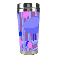 Purple and blue bird Stainless Steel Travel Tumblers