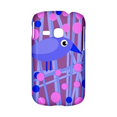 Purple and blue bird Samsung Galaxy S6310 Hardshell Case