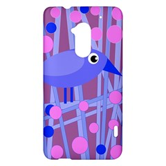 Purple and blue bird HTC One Max (T6) Hardshell Case