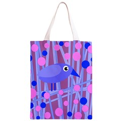 Purple and blue bird Classic Light Tote Bag