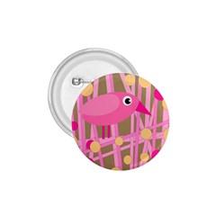 Pink bird 1.75  Buttons