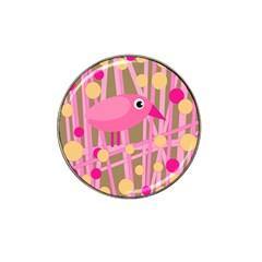 Pink bird Hat Clip Ball Marker (10 pack)