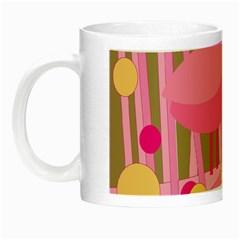Pink bird Night Luminous Mugs