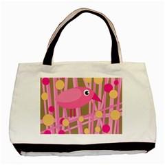 Pink bird Basic Tote Bag