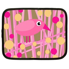 Pink bird Netbook Case (XL)