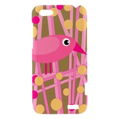 Pink bird HTC One V Hardshell Case
