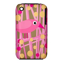 Pink bird Apple iPhone 3G/3GS Hardshell Case (PC+Silicone)