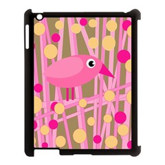 Pink bird Apple iPad 3/4 Case (Black)