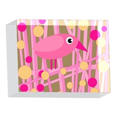 Pink bird 5 x 7  Acrylic Photo Blocks