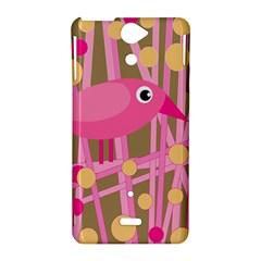Pink bird Sony Xperia V