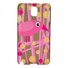 Pink bird Samsung Galaxy Note 3 N9005 Hardshell Case