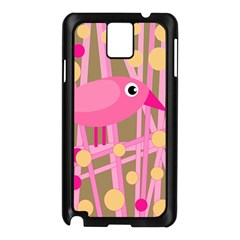 Pink bird Samsung Galaxy Note 3 N9005 Case (Black)