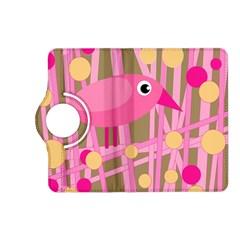 Pink bird Kindle Fire HD (2013) Flip 360 Case