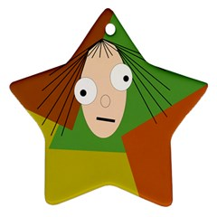 Crazy girl Ornament (Star)