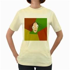 Crazy girl Women s Yellow T-Shirt