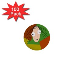 Crazy girl 1  Mini Buttons (100 pack)