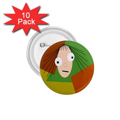 Crazy girl 1.75  Buttons (10 pack)