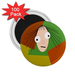 Crazy girl 2.25  Magnets (100 pack)