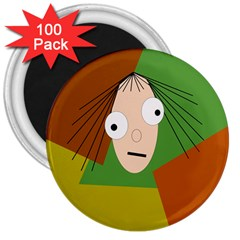 Crazy girl 3  Magnets (100 pack)