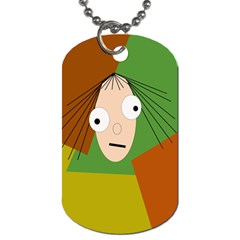 Crazy girl Dog Tag (One Side)