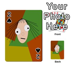 Crazy girl Playing Cards 54 Designs