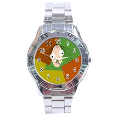 Crazy girl Stainless Steel Analogue Watch