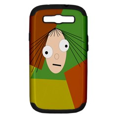 Crazy girl Samsung Galaxy S III Hardshell Case (PC+Silicone)