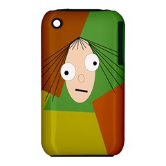 Crazy girl Apple iPhone 3G/3GS Hardshell Case (PC+Silicone)