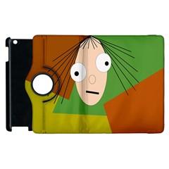 Crazy girl Apple iPad 2 Flip 360 Case