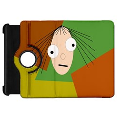 Crazy girl Kindle Fire HD Flip 360 Case