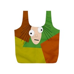 Crazy girl Full Print Recycle Bags (S)