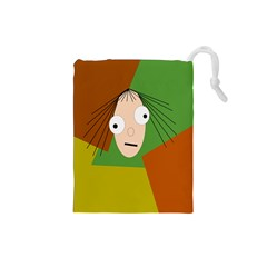 Crazy girl Drawstring Pouches (Small)