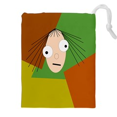 Crazy girl Drawstring Pouches (XXL)