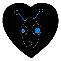 Blue alien Jigsaw Puzzle (Heart)