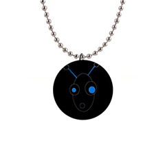 Blue alien Button Necklaces