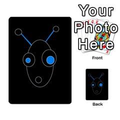 Blue alien Multi-purpose Cards (Rectangle)