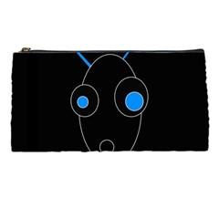 Blue alien Pencil Cases