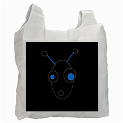 Blue alien Recycle Bag (Two Side)