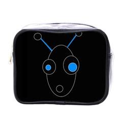 Blue alien Mini Toiletries Bags