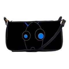 Blue alien Shoulder Clutch Bags