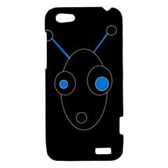 Blue alien HTC One V Hardshell Case