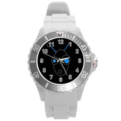 Blue alien Round Plastic Sport Watch (L)