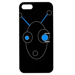 Blue alien Apple iPhone 5 Hardshell Case with Stand