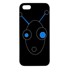 Blue alien Apple iPhone 5 Premium Hardshell Case