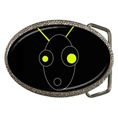 Yellow alien Belt Buckles