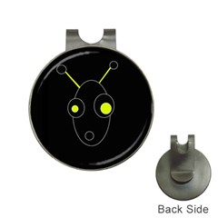 Yellow alien Hat Clips with Golf Markers