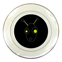 Yellow alien Porcelain Plates