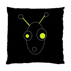 Yellow alien Standard Cushion Case (One Side)