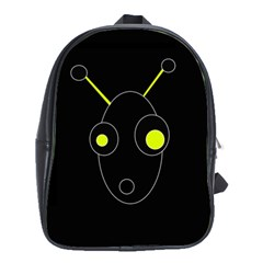Yellow alien School Bags(Large)