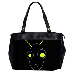 Yellow alien Office Handbags (2 Sides)
